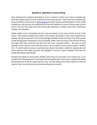 Quality Vs Quantity In Essay Writing By Rufuslopez Issuu