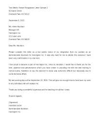 Examples Of Resign Letters Resignation Letter Sample Early Notice Resume Cover Tips 2 Weeks