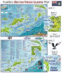 Bvi Navigation Charts British Virgin Islands Dive Road Map Folded