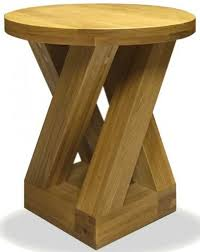 lamp tables. Homestyle GB Z Oak Designer Lamp Table - Round 4 Leg Tables
