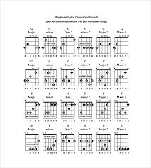 5 Guitar Chord Chart Templates Doc Excel Pdf Free Premium