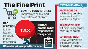 Flipkart All Details In Taxmen Begin Solving The Walmart