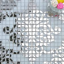 mosaic tile murals white and silver