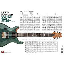 Electric Guitar Note Chart Mel Bay Left Handed Guitar Wall Chart