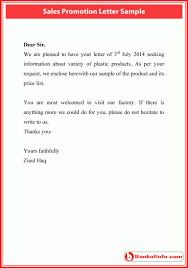 Sample Of Promotion Letter Sales Promotion Letter Sample Letter Letter Sample Sample