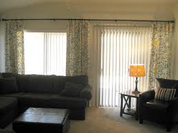 sliding glass door curtain ideas with vertical blind