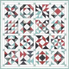 Feed Company Half-Square Triangle Quilt | Hummingbird Thread ... & Half Square Triangle Lap Quilt Patterns Half Square Triangle Baby Quilt  Tutorial Half Square Triangle Baby Quilt Patterns Layer Cake Sampler Quilt  Along Adamdwight.com