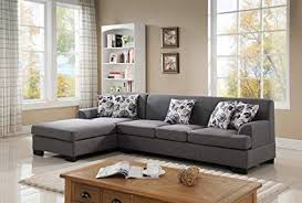 modern fabric sofa set. Modren Set US Pride Furniture S00732PC Allen Modern Fabric Reversible Sectional Sofa  Set Grey Intended Set