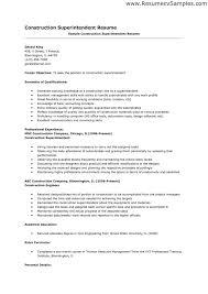 Strikingly Ideas Construction Superintendent Resume 1 Resume