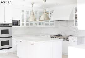 white kitchen. Modern White Kitchen Color Pop Emily Henderson Before G