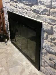 The Manhattan fireplace door has clean, contemporary look ...