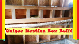 easy access en nesting box build