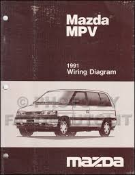 1991 mazda mpv wiring diagram manual original
