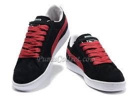 puma shoes suede black. puma suede classic black red shoes o