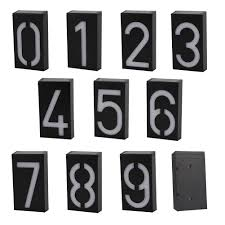 Us 10 37 42 Off New Arrival Solar Power Number Led Light Sign House Hotel Door Address Plaque Mailbox Digit Plate Solar Wall Door Lamp In Solar
