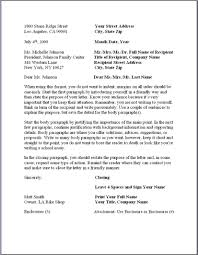 personal business letter template