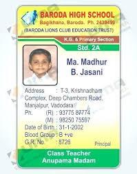 School Id Template High School Student Id Card Template Templates Teacher Free