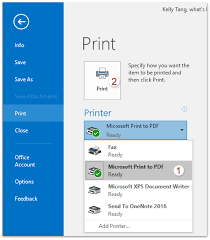 How To Export An Outlook Email To Pdf File