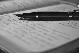 Znalezione obrazy dla zapytania writing poetry black and white