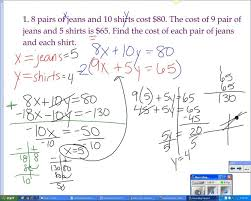 systems of equations word problems elimination method solving systems by worksheet doc large size
