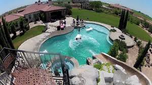 Cool Backyard Awesome Backyard Pool Slide Gopro Hd Hero2 Youtube