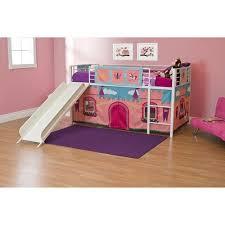 bunk bed with slide for girls. Girls\u0026apos; Princess Castle Twin Loft Bed With Slide, Bunk Slide For Girls K