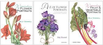 billy showell books watercolour flower portraits