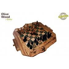 Handmade Wooden Board Games Adorable Olive Wood Handmade Handcrafted Artisanal Handmade Chessboard