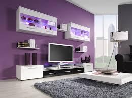 Lavender Living Room Decorar El Sala3n En Color Paorpura Grey Walls Black Chairs And Grey