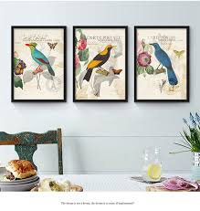 colorful birds flowers theme murals american countryside style canvas wall art poster no frame art picture on colorful birds canvas wall art with colorful birds flowers theme murals american countryside style