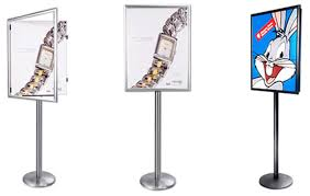 A Frame Display Stands SSWF Swing Open Poster Display Stand Single Sided Poster 7