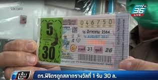 ตร.พิจิตร ถูกหวยรางวัลที่ 1 จำนวน 5 ใบ รับเงิน 30 ล้านบาท : PPTVHD36
