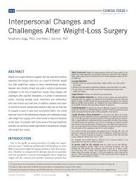 Pdf Interpersonal Changes And Challenges After Weight Loss