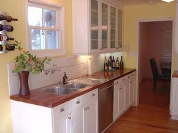 Kitchens With Wood Cabinets Traditional Kitchen With Wood Counters Flat Panel Cabinets In