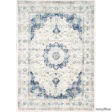 persian vintage ivory blue faded rug