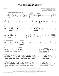 drums sheet music the greatest show drums sheet music direct
