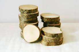 Log Crafts 10 Wood Slices Tree Slices Wood Wooden Tags Log Wooden