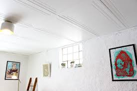 Basement Drop Ceiling Makeover With Home Depot The