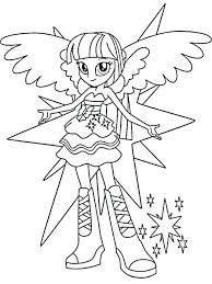 My Little Pony Equestria Girl Coloring Pages To Print Equestria