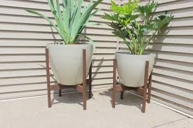Planters, Copper Planters Tall Tall Outdoor Planters Wooden Stand Diy Plant  Wooden Creativity: interesting