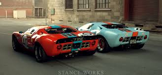 ford works reunited a pair of australian ford gt40s stanceworks