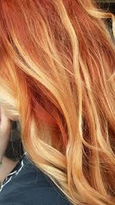 Red Copper Blond Ombre Balayage Hair Vlasy Vlasy Ombré Vlasy