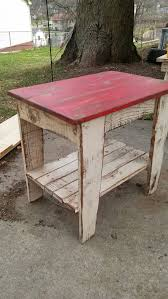 Reclaimed Wood End Table Nightstand Rustic Two Tone Nightstand End Table  Primitive Side Table Shabby Chic