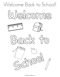back to school coloring page back to school coloring pages printable welcome back to school coloring