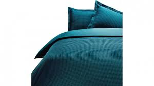 linen house deluxe waffle teal quilt cover set super king
