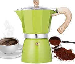 How to make espresso coffee. Amazon Com Narce Stovetop Espresso Maker Moka Pot 6 Cup 9 3oz Green Cuban Coffee Maker Stove Top Coffee Maker Moka Italian Espresso Greca Coffee Maker Aluminum Kitchen Dining