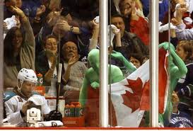 The canucks play their home games at rogers arena, which has an official capacity of 18,910. Vancouver S Green Men Enjoying Their Fanciful Moment The Mercury News