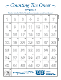 Chart For Counting The Omer Counting The Omer Calendar 2015 Stickers Digging With Darren