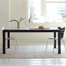 espresso dining room chairs parsons expandable dining table westelm