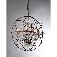 warehouse of tiffany planet shaker ii rl8060b crystal chandelier hayneedle